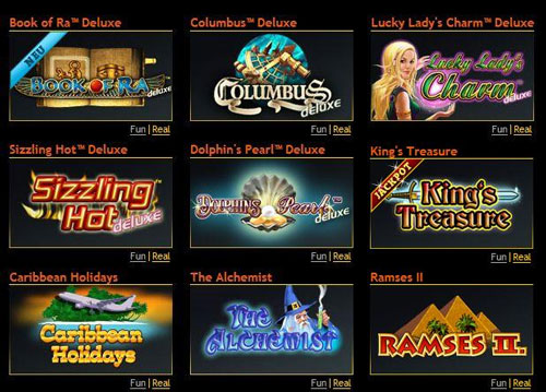 online slot games casino book of ra online